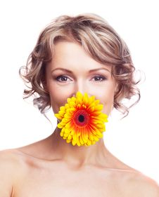 Free Woman With A Flower Royalty Free Stock Photos - 19263908