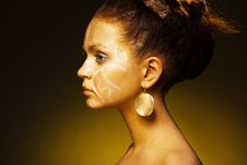 Free Exotic African Female Fashion Face Royalty Free Stock Photo - 19264255