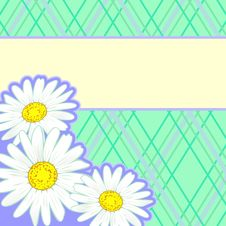 Free Country Style Background With Daisies Royalty Free Stock Photos - 19264388