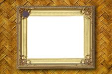 Free Gold Picture Frame Royalty Free Stock Photos - 19264918