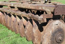 Rusty Agricoltural Machine Royalty Free Stock Photo
