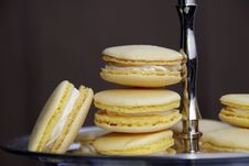 Free Lemon Macarons Royalty Free Stock Photo - 19265595