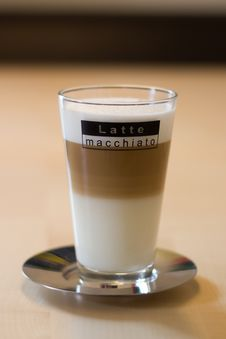 Free Latte Macchiato On Saucer Stock Photos - 19266113