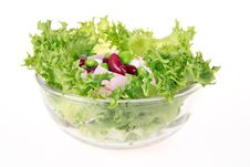 Free Freshness Lettuce Bean And Corn Salad Isolated Stock Photography - 19266142