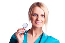 Free Doctor With Stethoscope Royalty Free Stock Photos - 19266158