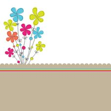 Free Background With Flowers. Vector Illustration Royalty Free Stock Photos - 19266218