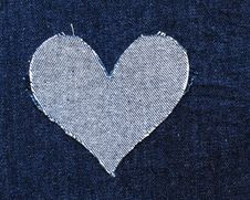 Free Heart Of Jeans Stock Image - 19266921