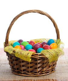 Free Easter Eggs In Basket Royalty Free Stock Image - 19266976