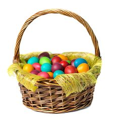 Free Easter Eggs In Basket Royalty Free Stock Photo - 19266985