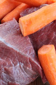 Beef And Carrots Royalty Free Stock Photography