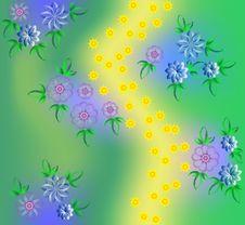 Free Planimetric Flowers Stock Image - 19267501