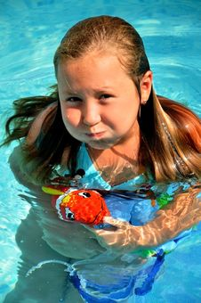 Free Little Girl In The Pool Stock Photos - 19268143