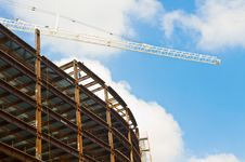 Highrise Construction Site Royalty Free Stock Photography