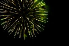 Free A Burst Of  Green  Fireworks Against A Night Sky Stock Photography - 19269452