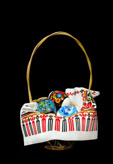 Free Easter Basket Royalty Free Stock Photo - 19269655