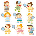 Free Cartoon Tennis Players Icon Royalty Free Stock Photo - 19270405