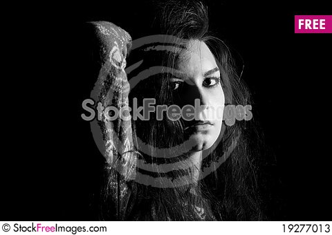 Free The Beautiful Mystical Portret Of Women Stock Photos - 19277013
