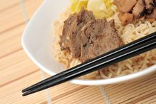 Free Meat Noodles Stock Photo - 19270420