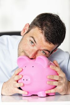 Free Kiss Piggy Bank Stock Photos - 19270463
