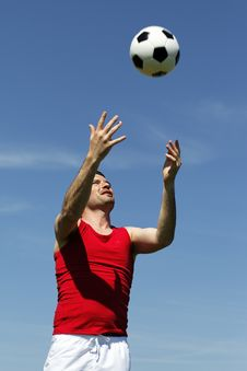 Ball In The Sky Royalty Free Stock Image