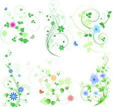 Free Green Design Set Stock Photos - 19270563