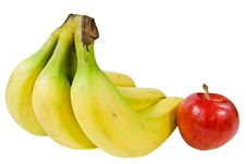 Free A Bunch Of Bananas And An Apple Stock Photography - 19270652