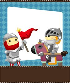 Free Cartoon Knight Card Stock Image - 19270701