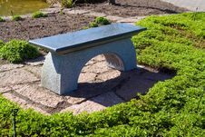Free Beautiful Garden Stone Granite Seating Corner Stock Photography - 19270842