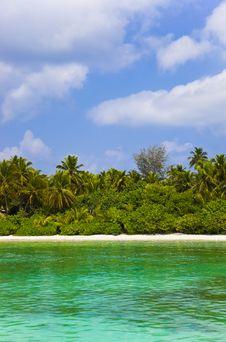 Free Tropical Beach At Maldives Stock Image - 19270941