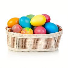 Free Easter Eggs In Basket Stock Photos - 19271013