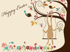 Free Easter Greeting Card Royalty Free Stock Photo - 19271645