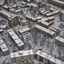 Free Aerial View Over Riga Suburb Stock Photography - 19271772