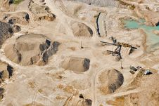 Free Aerial View Over Sandpit Royalty Free Stock Image - 19271786