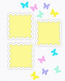 Free Butterfly Scrapbook Page Stock Photos - 19271923