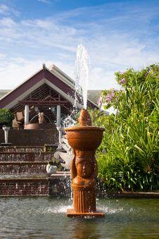 Garden Fountain Royalty Free Stock Photo
