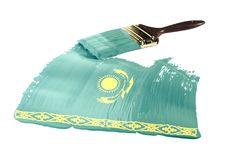 Free Flag Of Kazakhstan Stock Photography - 19272732