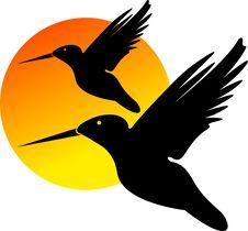 Free Love Birds Logo Royalty Free Stock Photo - 19272975