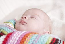 Free Baby Girl Aged 6 Weeks Royalty Free Stock Photo - 19273215