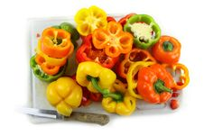 Free Cut Pepper Slices Stock Photography - 19274332