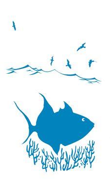 Free Vector Silhouette Of Sea Fish Stock Image - 19274831