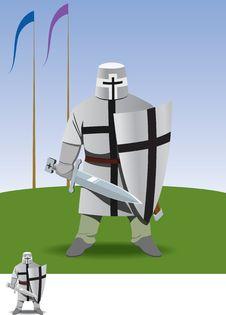 Crusader Royalty Free Stock Photo