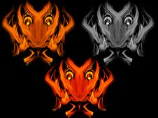 Free Abstract Fiery Devil Faces Stock Photos - 19276673