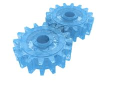 Free Blue Gear Wheel Stock Image - 19277071