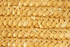 Free Native Thai Style Bamboo Basket Royalty Free Stock Photography - 19277257