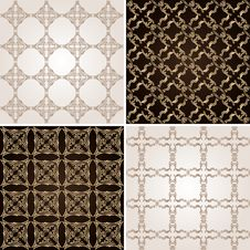 Free Seamless Vintage Background Wallpaper Set Royalty Free Stock Images - 19277619