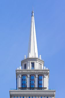Spire Of A High-rise Building Stock Image