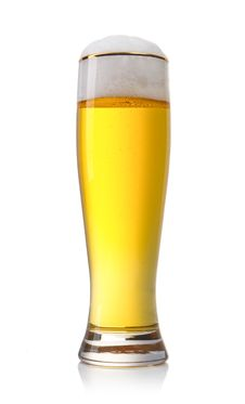 Free Gold Beer Isolated On White Royalty Free Stock Photo - 19279395