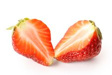 Free Strawberries Cut In Half Royalty Free Stock Image - 19279796