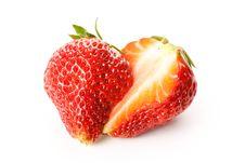 Free Strawberries Cut In Half Royalty Free Stock Photo - 19279805