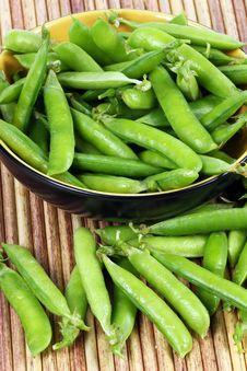 Free Snap Peas On White Stock Image - 19279841